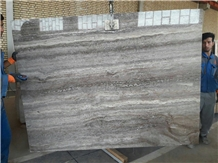 Light Silver Travertine Polished Slabs