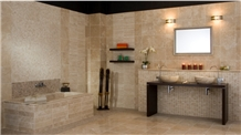 Travertino Classico Honed, Polished Wall and Floor