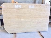 Vein Cut Travertine Slabs, Polished
