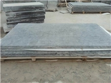 Flamed Slabs in Blue Limestone, Factory Sale