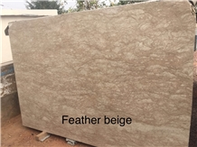 Feather Beige Marble Slabs