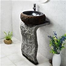 Black Granite Washbasin,Bath Sink,Pedestal Basins