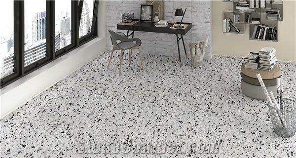 White Terrazzo Floor Tiles For Project Xiamen Stonemarkt