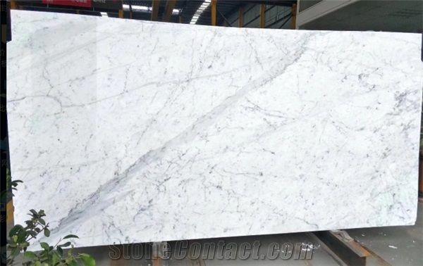Cheap Staturio Carrara White Marble Slab From China