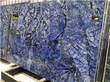 Luxury Blue Azul Bahia Granite Slab