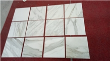 Luxury Stone White Staturio Marble Thin Tile