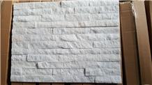 Pure White Quartzite Cultured Stone Veneer Filedstone