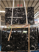 Century Black Ice Flower Marble