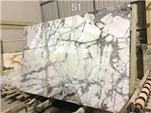 White Cold Winter River Snow Marble Slabs