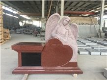 India Red Angel Pedestal with Niche