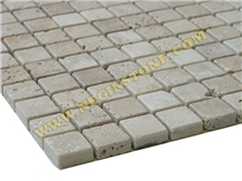 Tumbled Beige Travertine Mosaics (2*2)