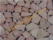 Tumbled Rose Paladiyana Meshed Stone Flagstone Paver