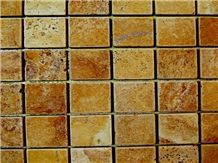 Tumbled Yellow Travertine Mosaics