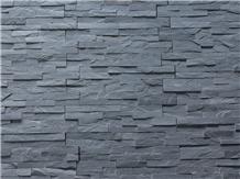 Black Slate Stacked Stone Veneer