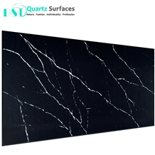 Black Marquina Artificial Quartz Stone Slabs