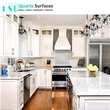 Carrara White Quartz Stone Kitchen Countertop