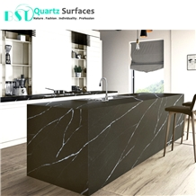 Coffee Brown Quartz Stone Dining Table Top
