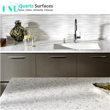Guangdong Snowfall Quartz Stone Kitchen Bench Top
