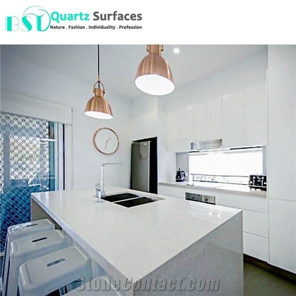 Marble Looking Quartz Stone Kitchen Island Tops from China ...