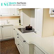 Pink Veined Quartz Stone for Kitchen Countertop