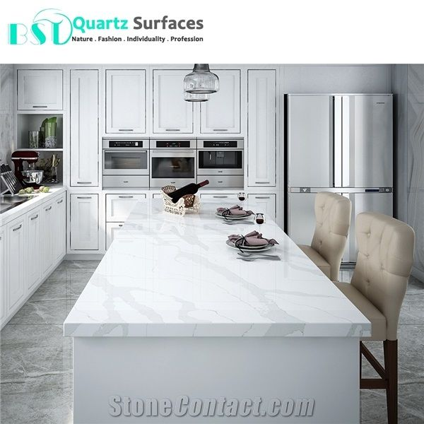 Statuario Quartz Stone Kitchen Dining