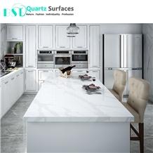 Statuario Quartz Stone Kitchen Dining Table Top