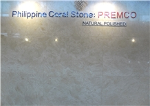 Philippines Brown Coral Stone Natural Polished