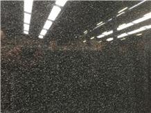 Nari Black Granite Slabs- Fine Grain