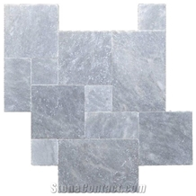 Sky Blue Marble Tumbled Pattern Pavement