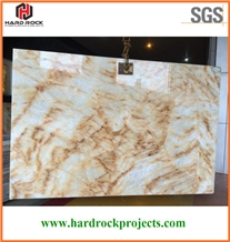 China Yellow Marble Onyx Slabs & Tiles/Crystal