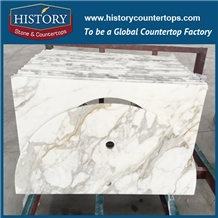 Bathroom Countertops Calcutta White Gold Marble
