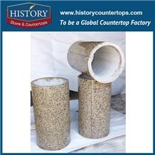 Building Granite Cladding Stone Hollow Column