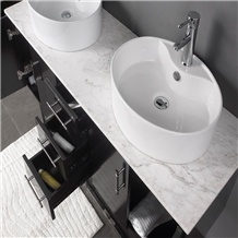 Aristone White Marble Bathroom Vanity Tops