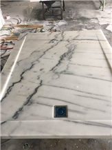 Bathroom Accessory White Marble Tray Customized