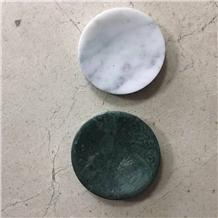 Bathroom Vokalas Marble Soap Dishes Round Shape