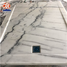 Natural Carrara White Marble Shower Tray