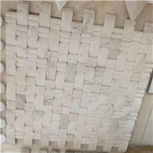 White Carrara Marble Mosaic 3d Bread