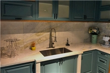 China Ocean Blue Onyx Commercial Countertops