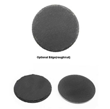 Wholesale Round Shape Black Slate Coasters