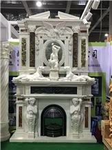 China Factory Marble Fireplace Mantels Surrounds