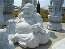 China Granite Buddha Sculptures Hand Carved Statue
