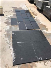 Tanzania Black Granite Flamed Tiles