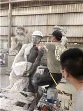 Granite Human Sculptures Garden Outdoor Art
