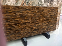 Tiger Eye Gold Quartzite Brazil Slabs Tiles Luxury