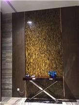 Tiger Eye Gold Quartzite Slabs Tiles Wall Brazil
