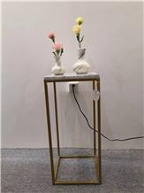 Volakas Marble Home Decorative Vases Office Decor