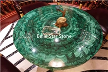 Green Jade/Malachite Semiprecious Stone Table Tops