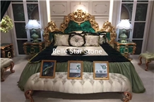 Malachite/Green Jade Gemstone Hotel Furniture