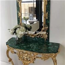 Malachite/Green Jade Precious Stone Dressing Table