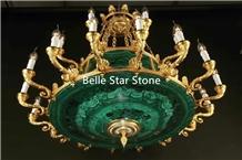 Malachite/Green Jade Precious Stone Drop Light